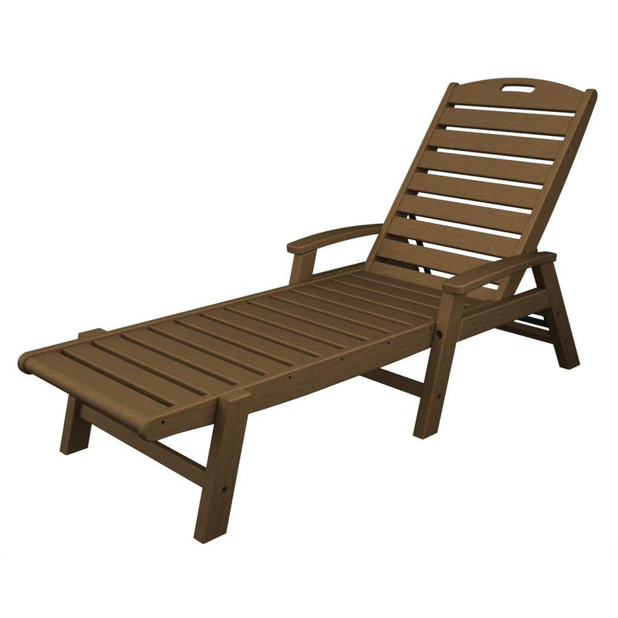 Trex Outdoor Furniture Yacht Club Tree House Plastic Patio Chaise Lounge Chair