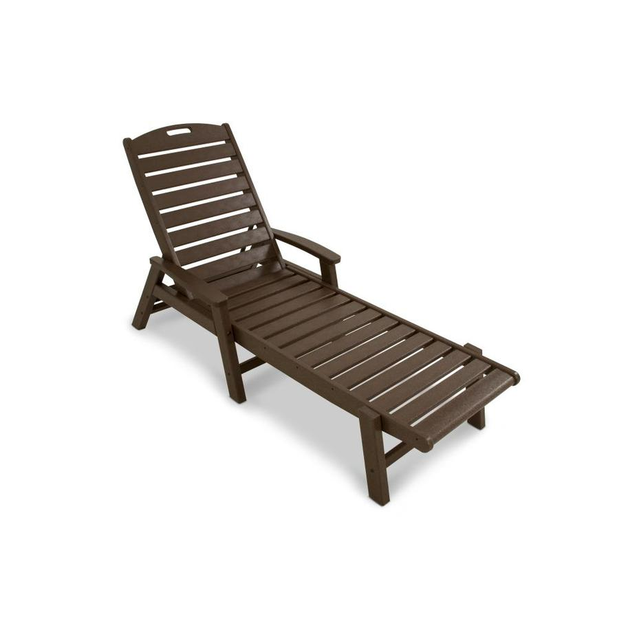 trex outdoor furniture yacht club hdpe chaise lounge chair with slat seat at. Black Bedroom Furniture Sets. Home Design Ideas