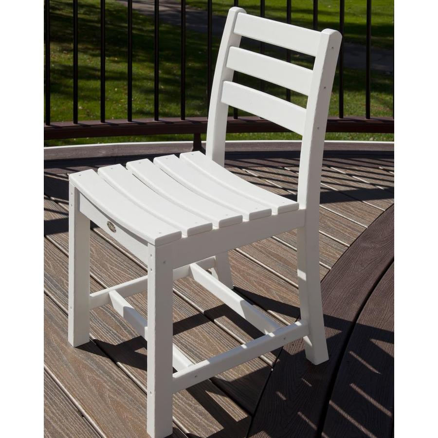 Trex Outdoor Furniture Monterey Bay 1-Count Classic White Plastic Patio Dining Chair