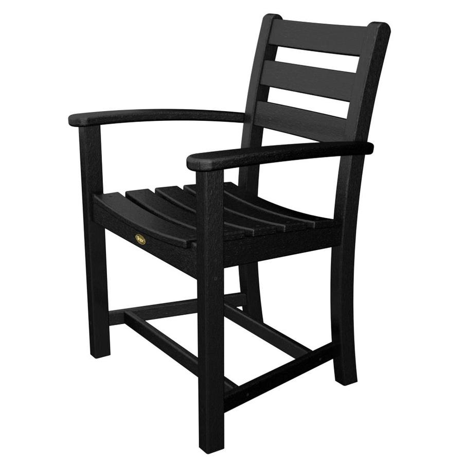 outdoor furniture monterey bay charcoal black plastic patio dining