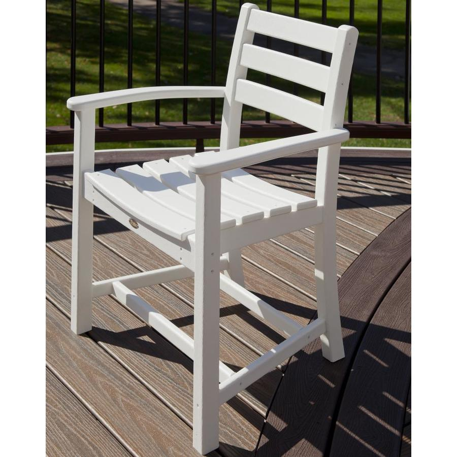 Shop Trex Outdoor Furniture Monterey Bay Classic White Plastic Patio Dining Chair At