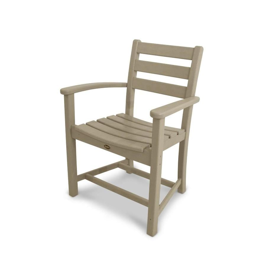Trex Outdoor Furniture Monterey Bay Sand Castle Plastic Patio Dining Chair
