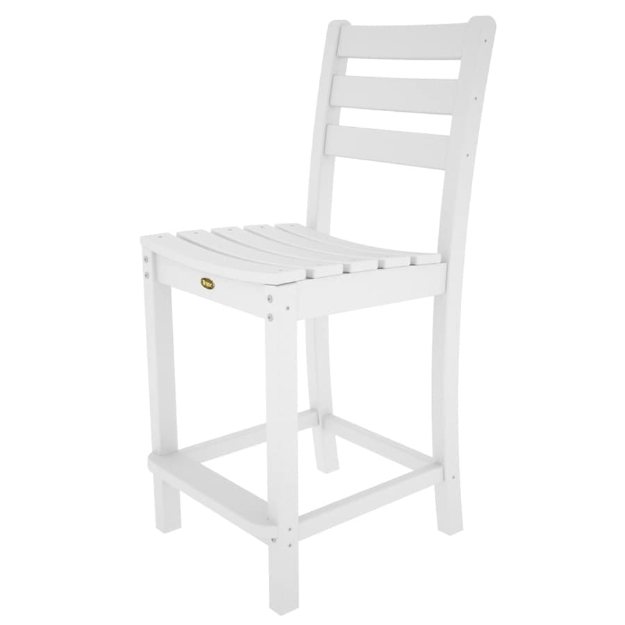 Shop trex outdoor furniture monterey bay classic white for White plastic dining chair