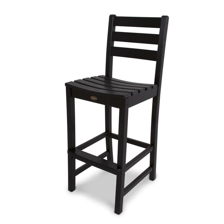 Trex Outdoor Furniture Monterey Bay Charcoal Black Plastic Patio Bar Stool Chair
