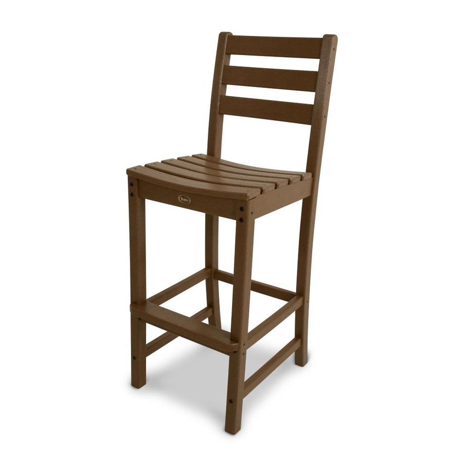 Trex Outdoor Furniture Monterey Bay Tree House Plastic Patio Bar Stool Chair