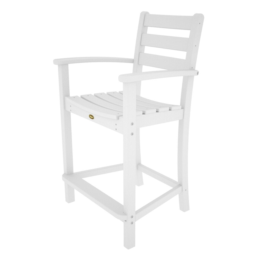 Trex Outdoor Furniture Monterey Bay Classic White Plastic Patio Dining Chair