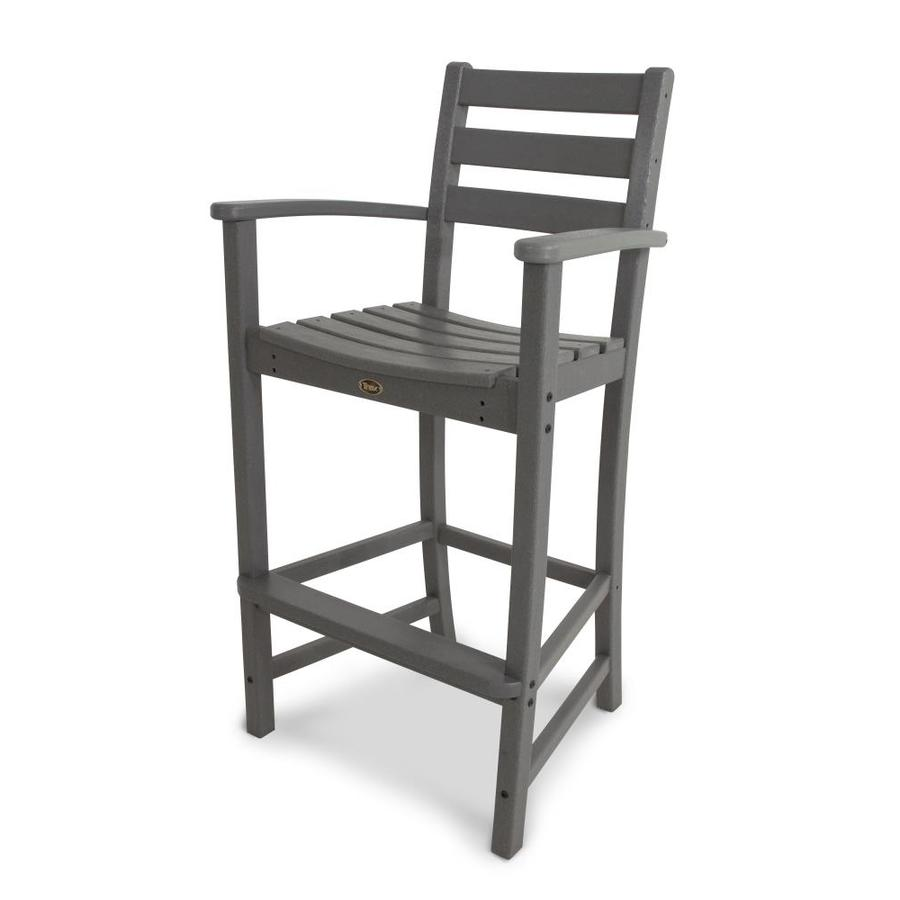 Trex Outdoor Furniture Monterey Bay Stepping Stone Plastic Patio Barstool Chair