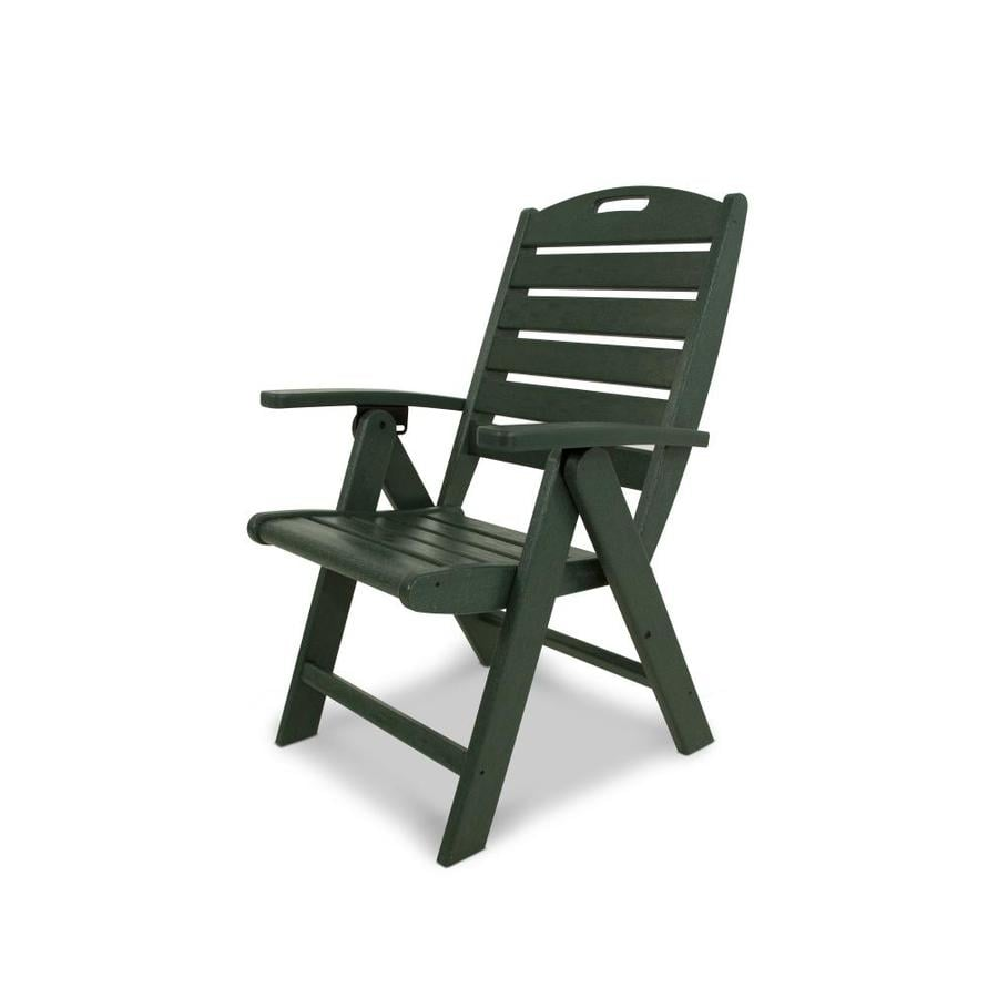 Trex Outdoor Furniture Yacht Club  Rainforest Canopy Plastic Patio Dining Chair