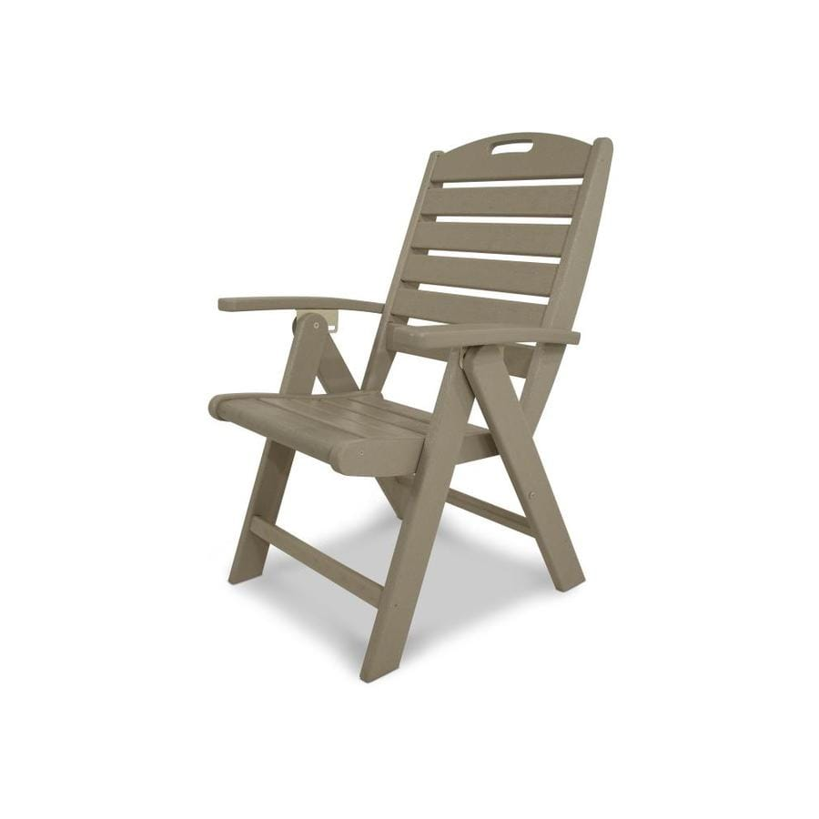 Trex Outdoor Furniture Yacht Club  Sand Castle Plastic Patio Dining Chair
