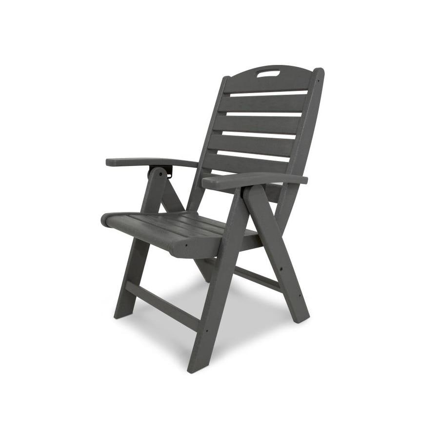 Trex Outdoor Furniture Yacht Club Stepping Stone Plastic Patio Dining Chair