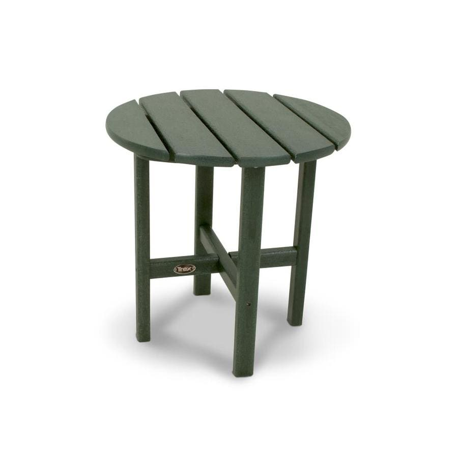 Trex Outdoor Furniture Cape Cod 18-in W x 18-in L Round Plastic End Table