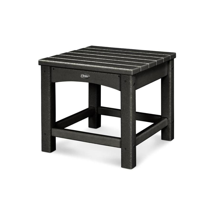 Trex Outdoor Furniture Rockport 17.75-in W x 17.75-in L Square Plastic End Table