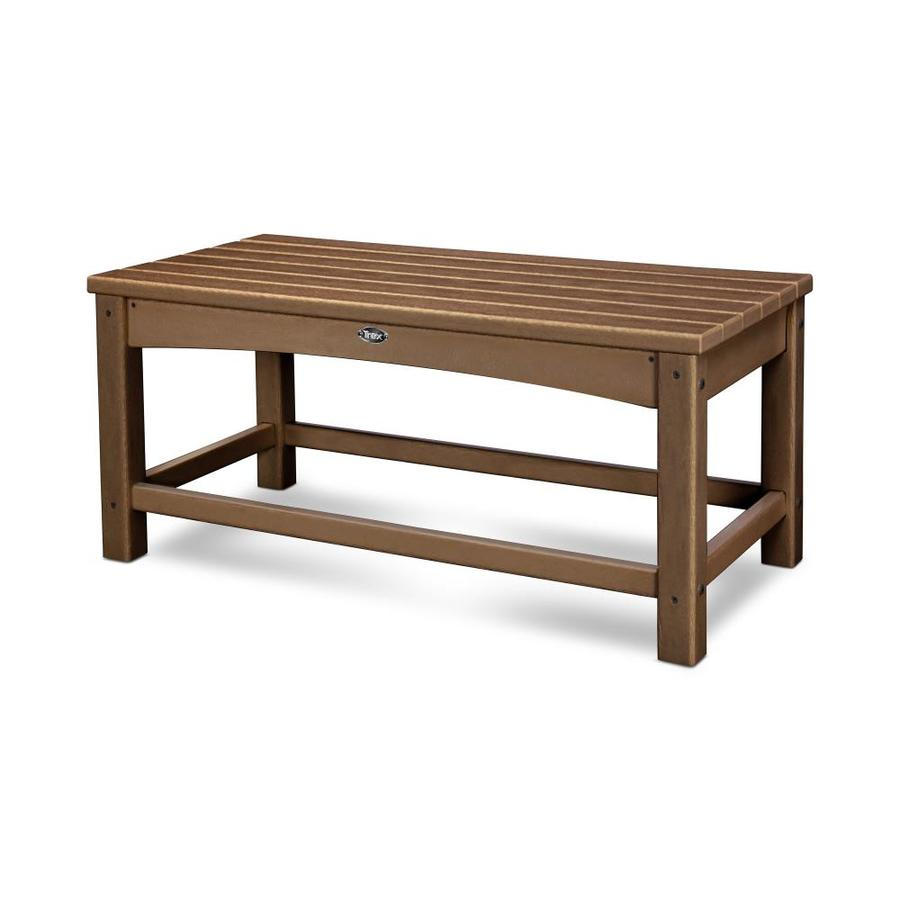 Shop Trex Outdoor Furniture Rockport W X 35 5 In L Rectangle Plastic Coffee Table At