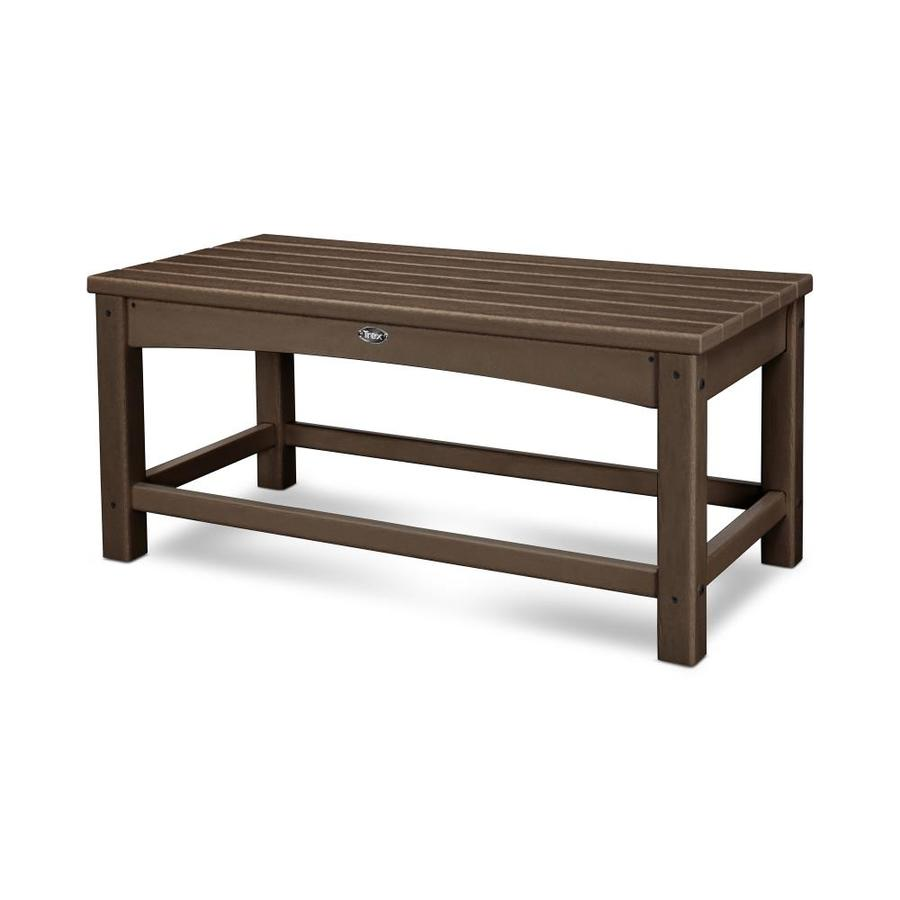 Trex Outdoor Furniture Rockport 17.75-in W x 35.5-in L Rectangle Plastic Coffee Table