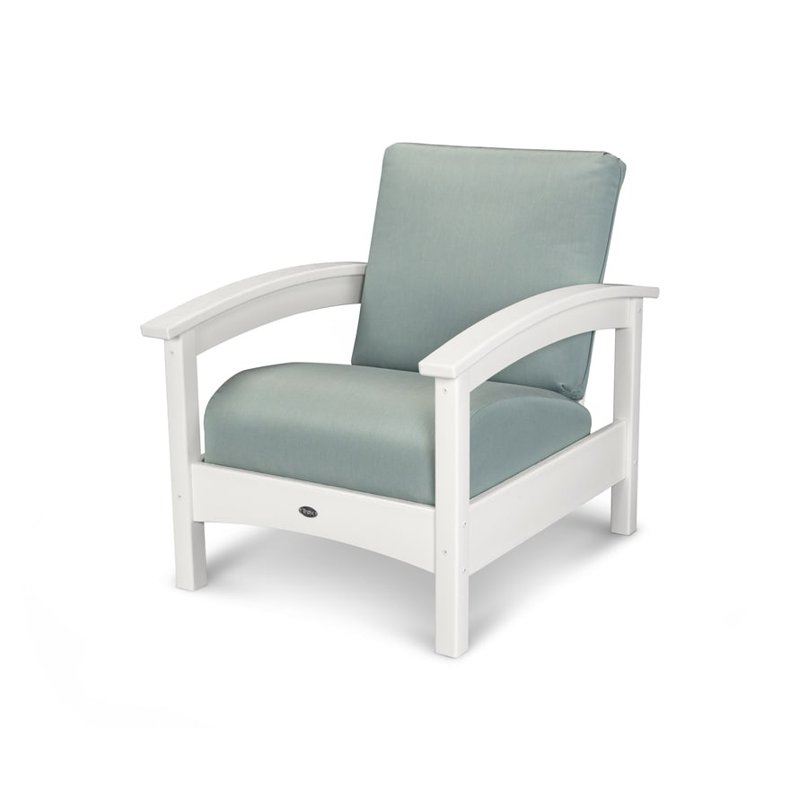 Trex Outdoor Furniture Rockport Classic White/Spa Plastic Patio Conversation Chair