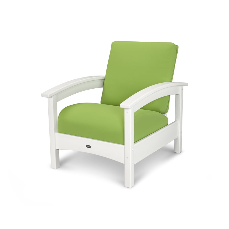 Trex Outdoor Furniture Rockport Classic White/Macaw Plastic Patio Conversation Chair