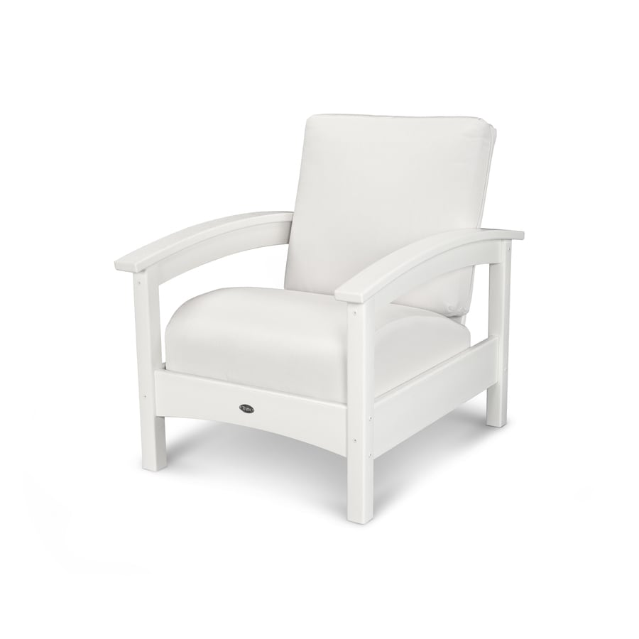 Trex Outdoor Furniture Rockport Classic White/Bird's Eye Plastic Patio Conversation Chair