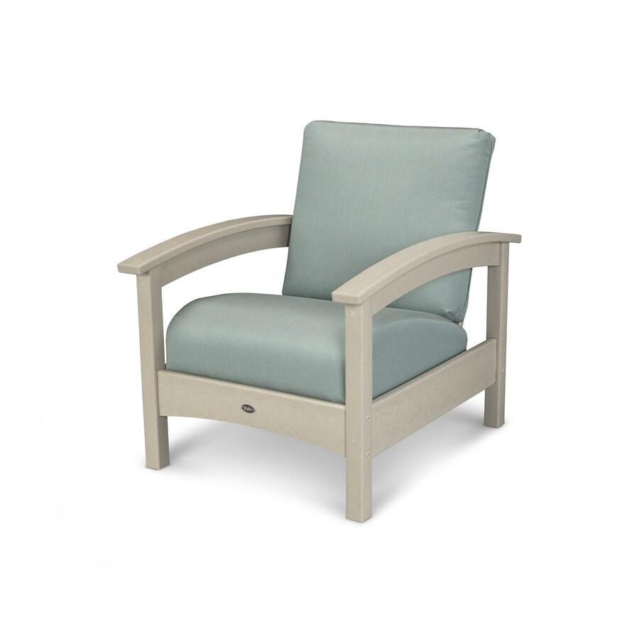 Trex Outdoor Furniture Rockport Sand Castle/Spa Plastic Patio Conversation Chair