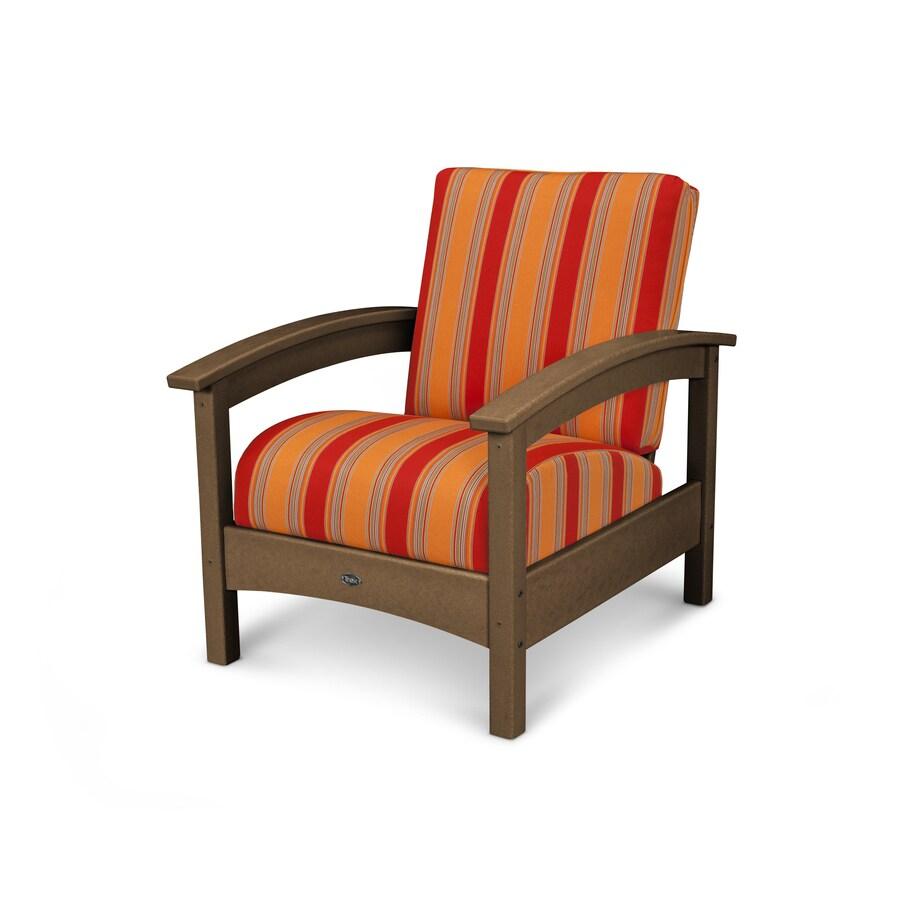 Trex Outdoor Furniture Rockport Tree House / Bravada Salsa Plastic Patio Conversation Chair