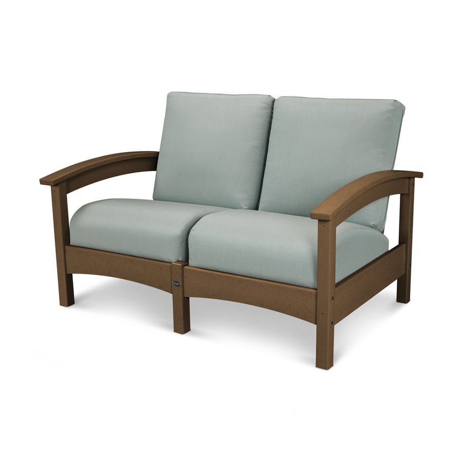 Trex Outdoor Furniture Rockport Solid Cushion Tree House/Spa Plastic Loveseat