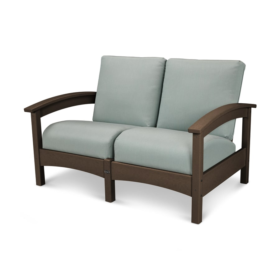 Trex Outdoor Furniture Rockport Solid Cushion(S) Included Vintage Lantern / Spa Plastic Loveseat