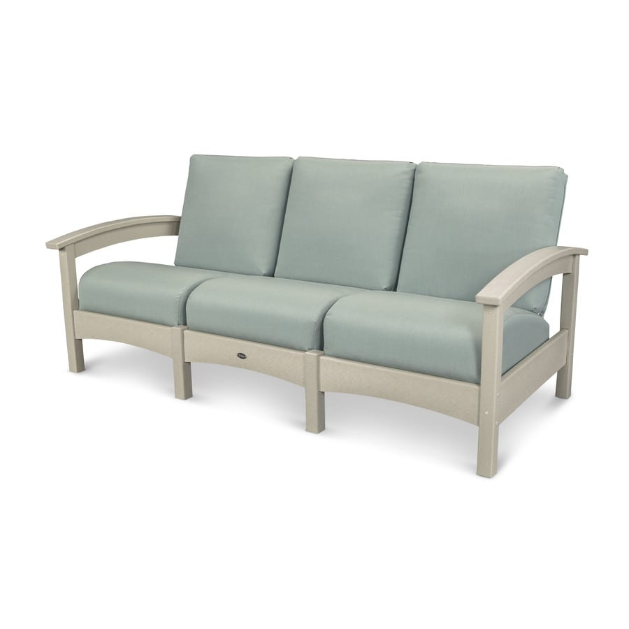 Trex Outdoor Furniture Rockport Solid Cushion(S) Included Sand Castle / Spa Plastic Sofa