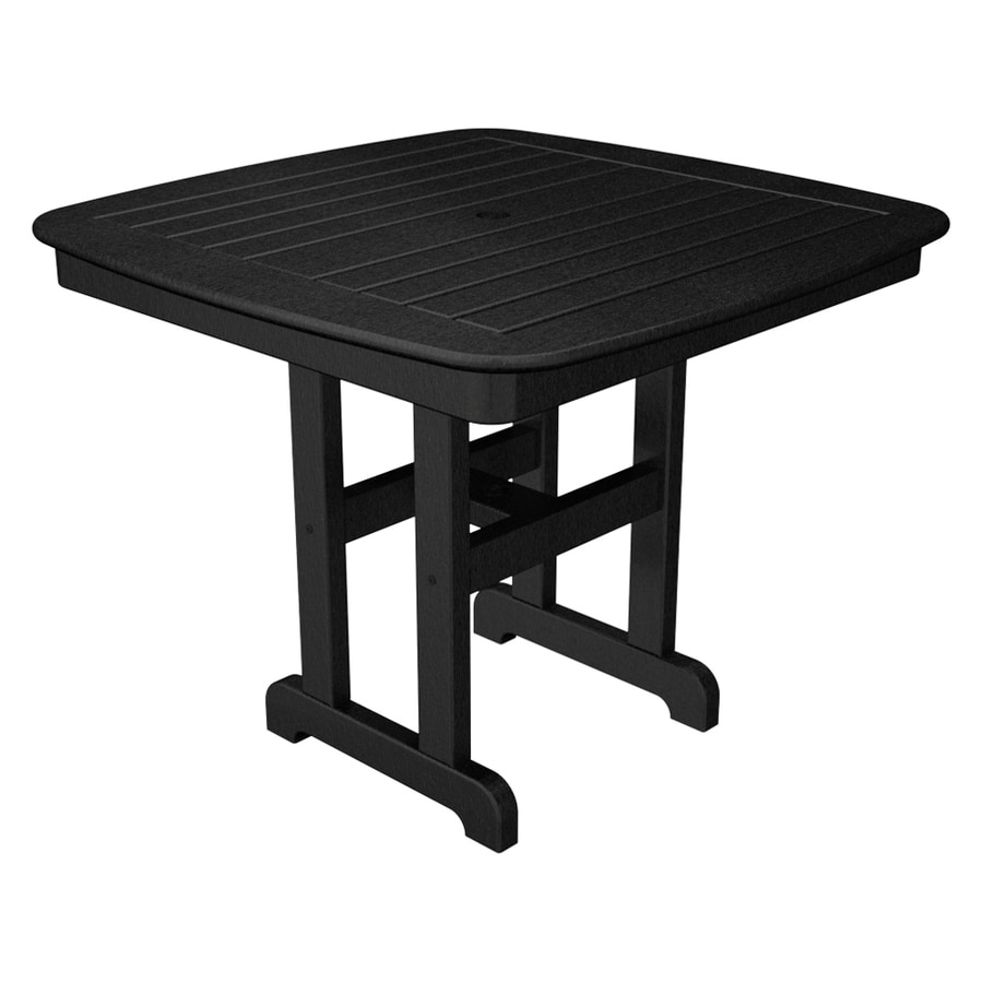 Trex Outdoor Furniture Yacht Club 36.75-in W x 36.75-in L Square Plastic Dining Table