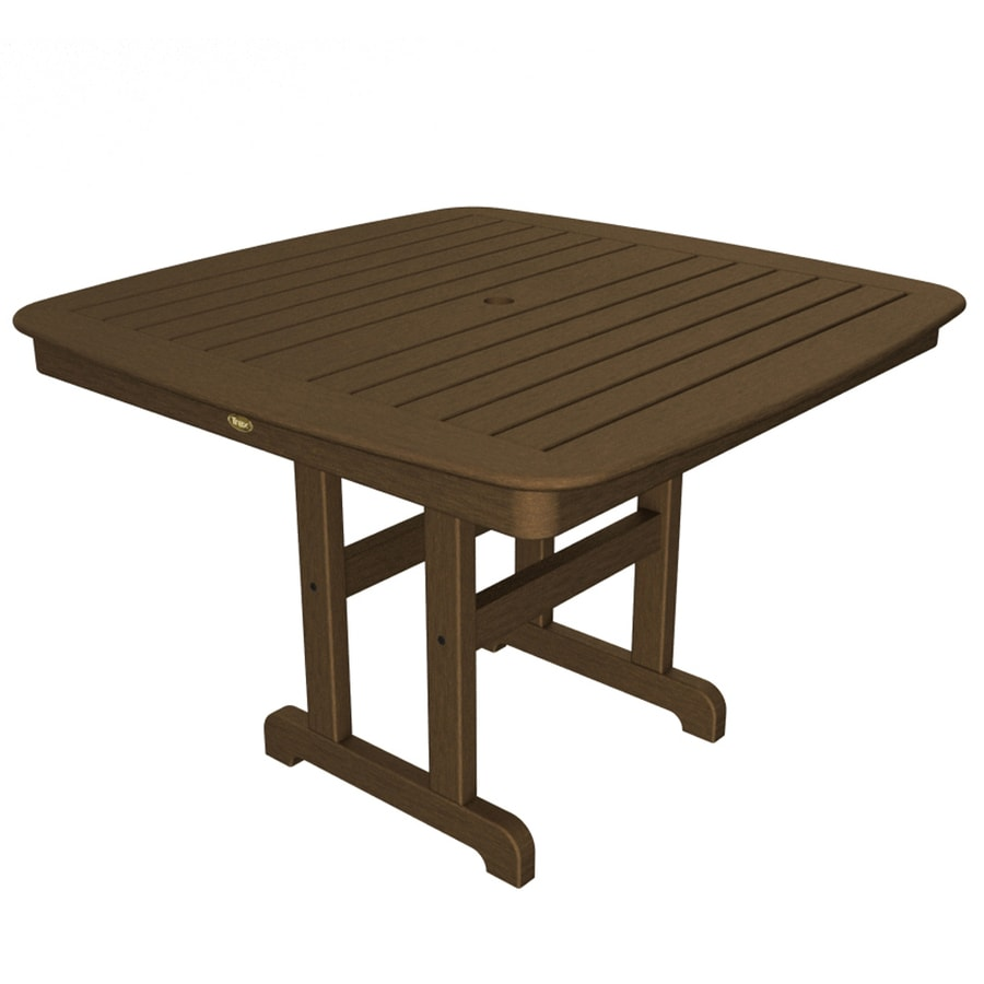 Trex Outdoor Furniture Yacht Club 42.5-in W x 42.5-in L Square Plastic Dining Table
