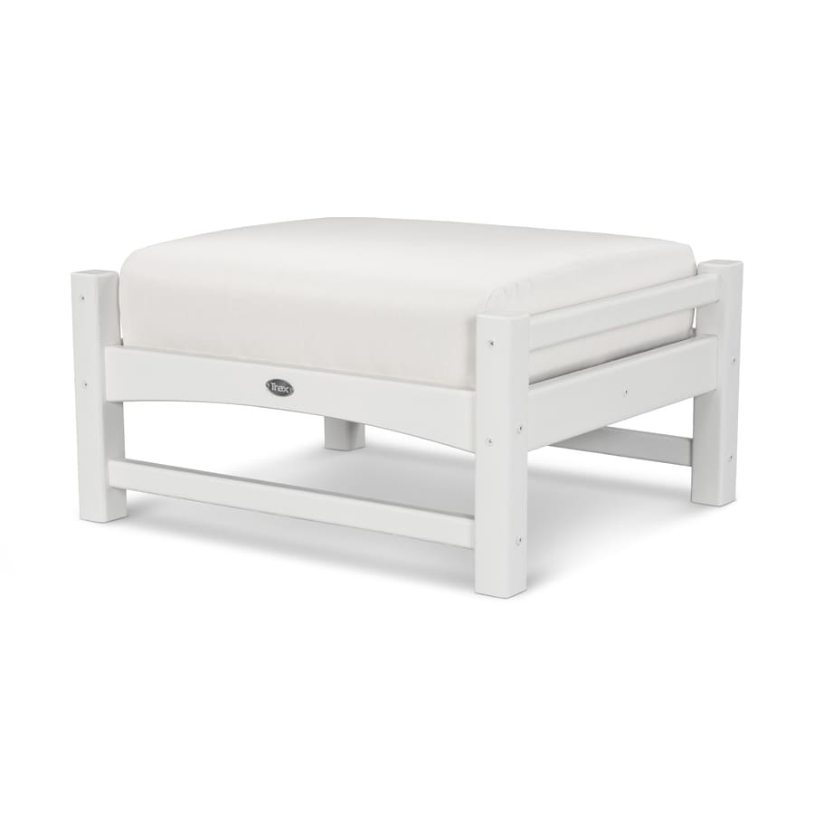 Trex Outdoor Furniture Rockport Classic White/Bird's Eye Plastic Ottoman