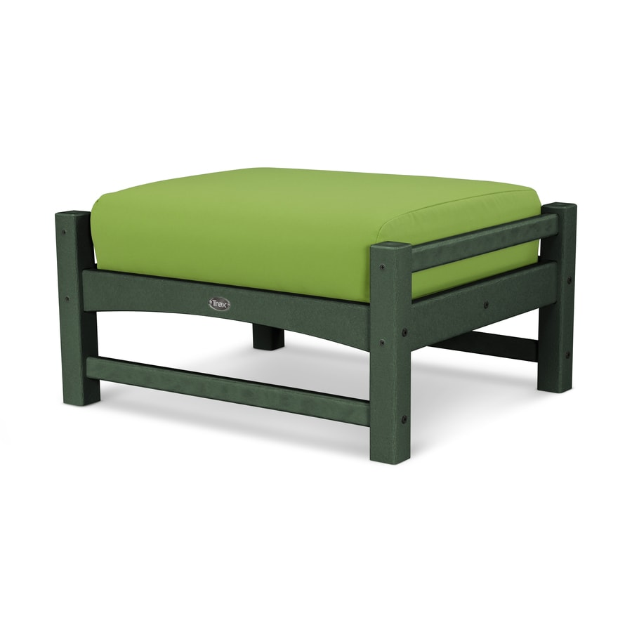 Trex Outdoor Furniture Rockport Rainforest Canopy / Macaw Plastic Ottoman