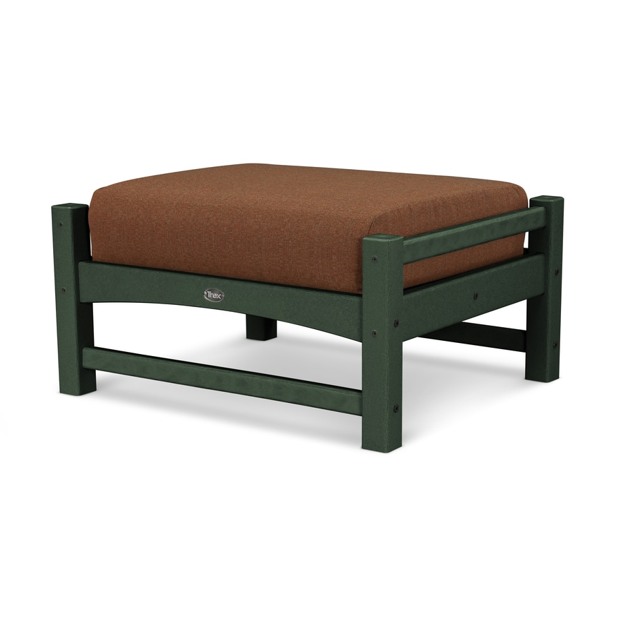 Trex Outdoor Furniture Rockport Rainforest Canopy/Chili Plastic Ottoman