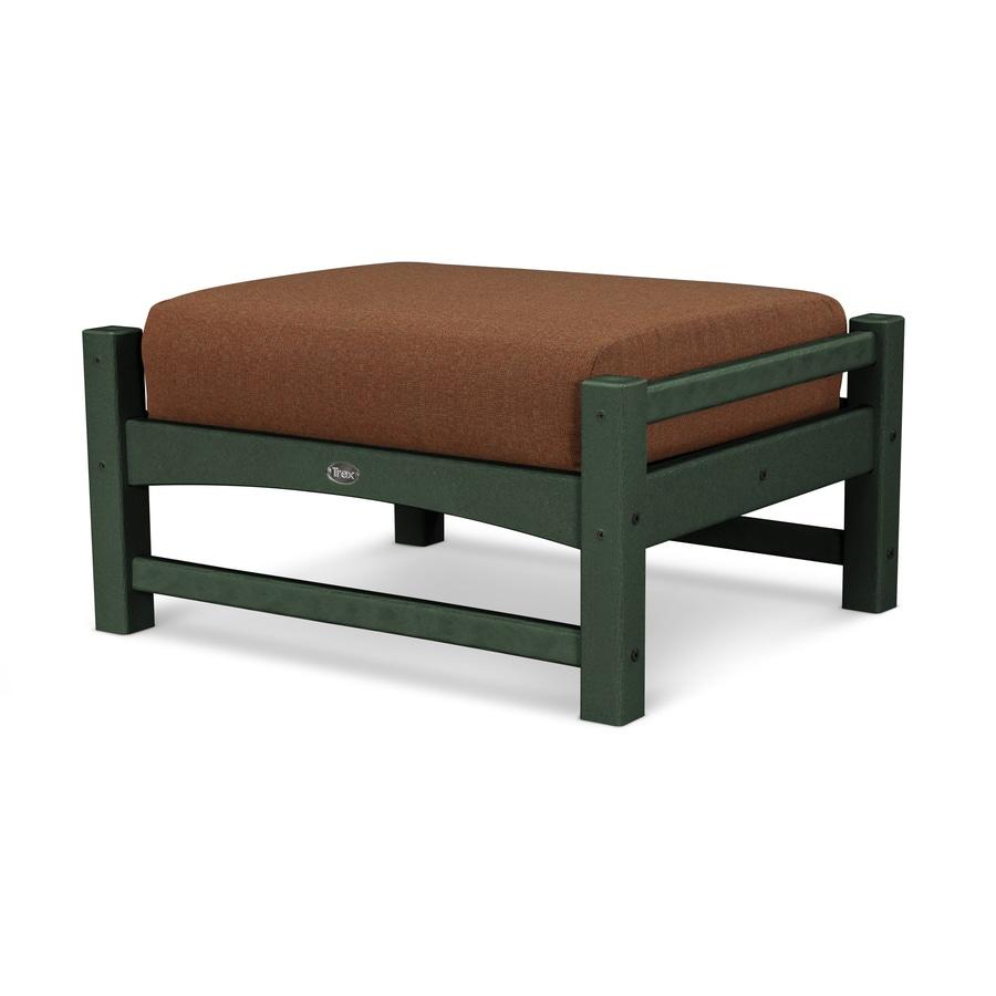 Trex Outdoor Furniture Rockport Rainforest Canopy / Chili Plastic Ottoman