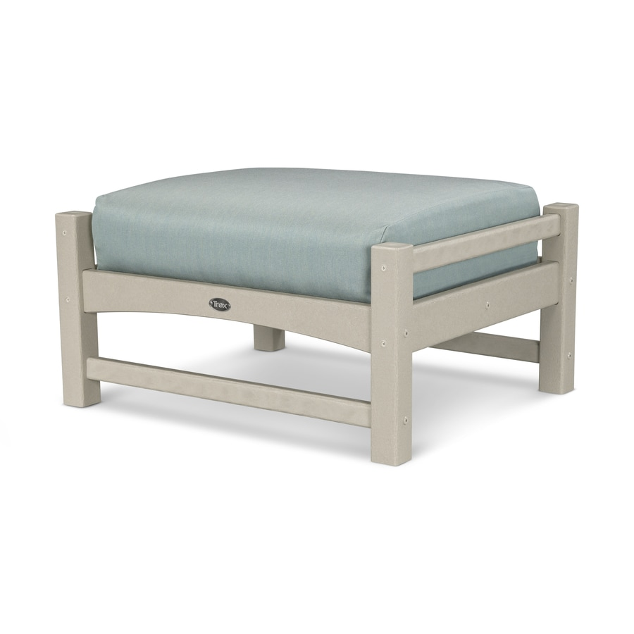 Trex Outdoor Furniture Rockport Sand Castle/Spa Plastic Ottoman