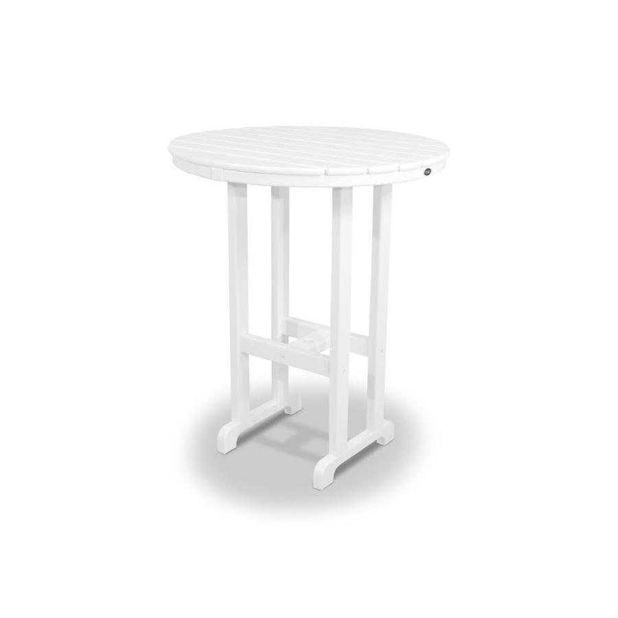 Trex Outdoor Furniture Monterey Bay 35.13-in W x 35.13-in L Round Plastic Bar Table
