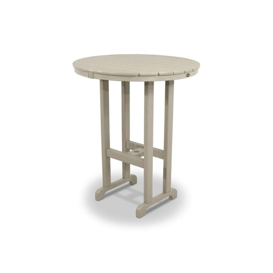 Trex Outdoor Furniture Monterey Bay 35.13-in W x 35.13-in L Round Plastic Bar Table