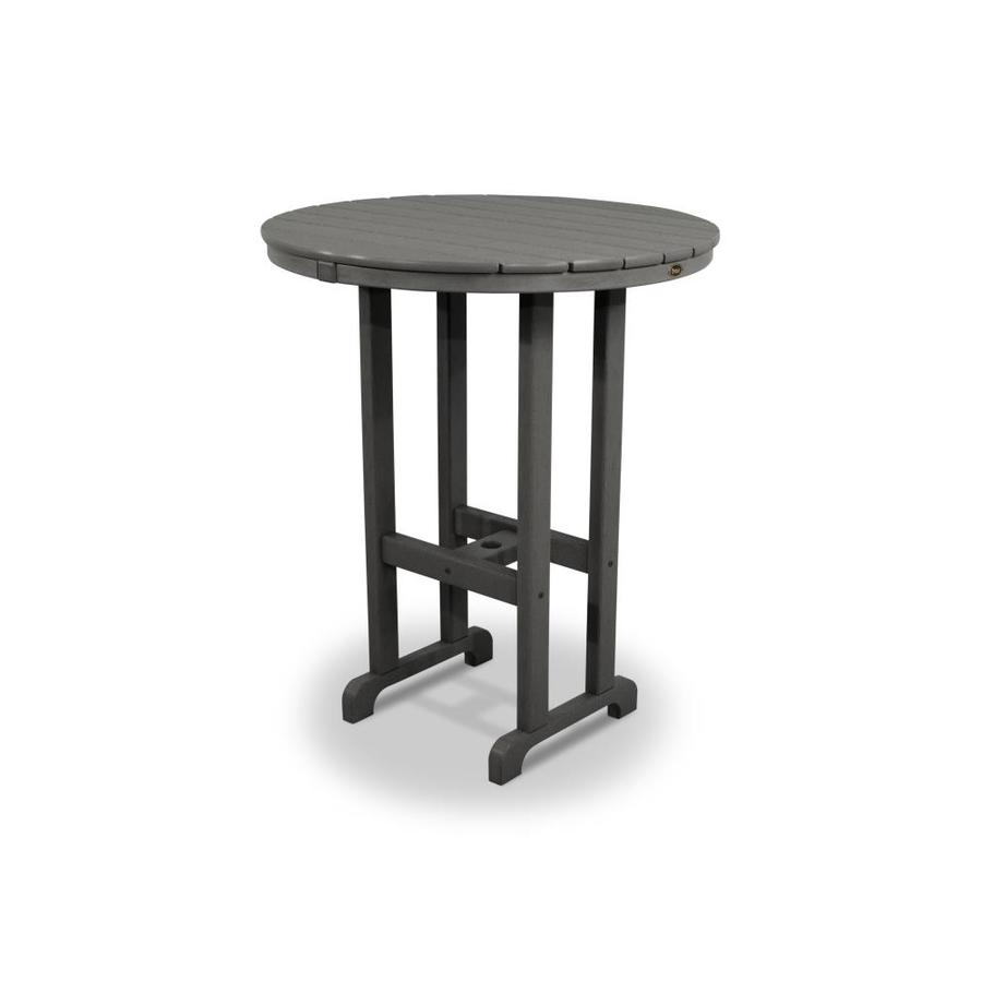 Trex Outdoor Furniture Monterey Bay 35.12-in W x 35.12-in L Round Plastic Bar Table