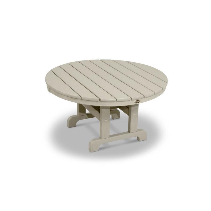 Trex Outdoor Furniture Cape Cod 35.12-in W x 35.12-in L Round Plastic Coffee Table