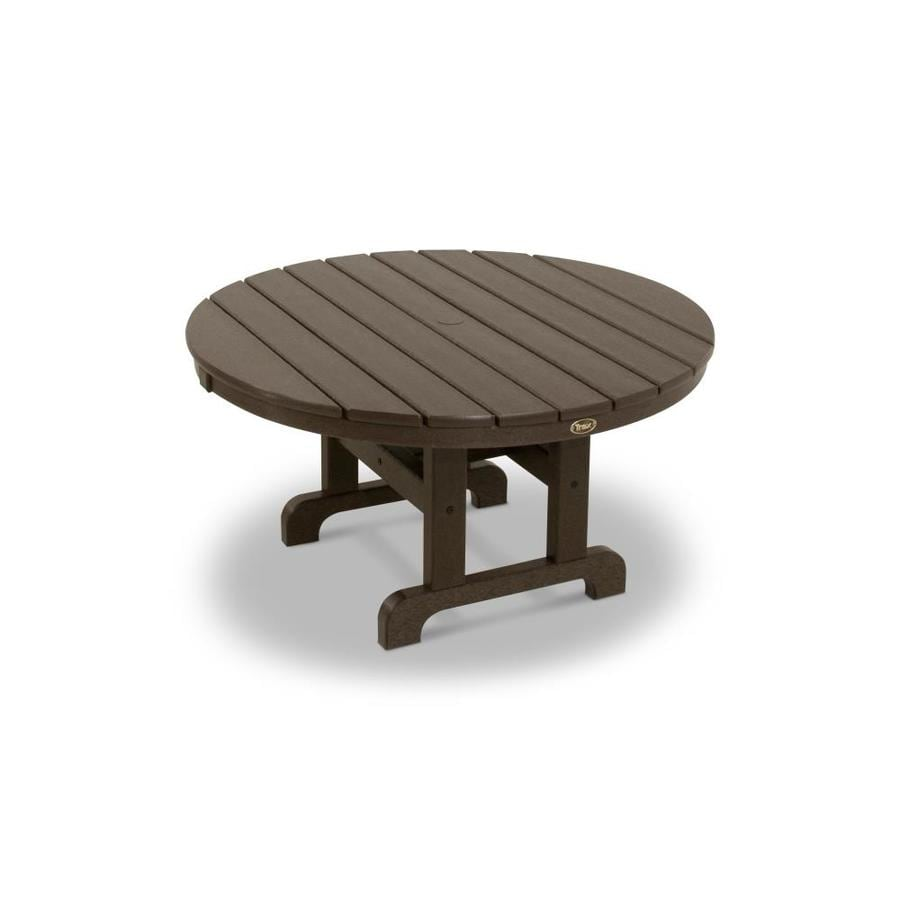 Trex Outdoor Furniture Cape Cod 35.13-in W x 35.13-in L Round Plastic Coffee Table