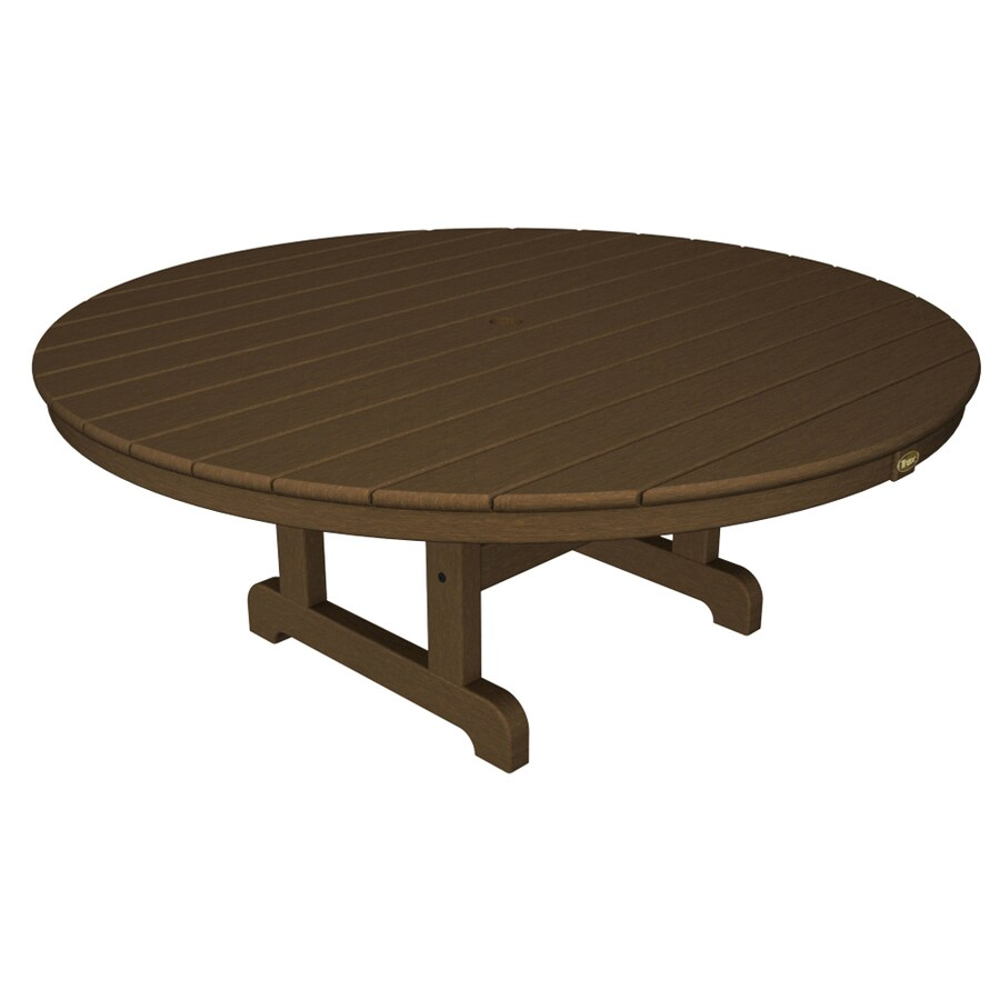 Trex Outdoor Furniture Cape Cod 48-in W x 48-in L Round Plastic Coffee Table