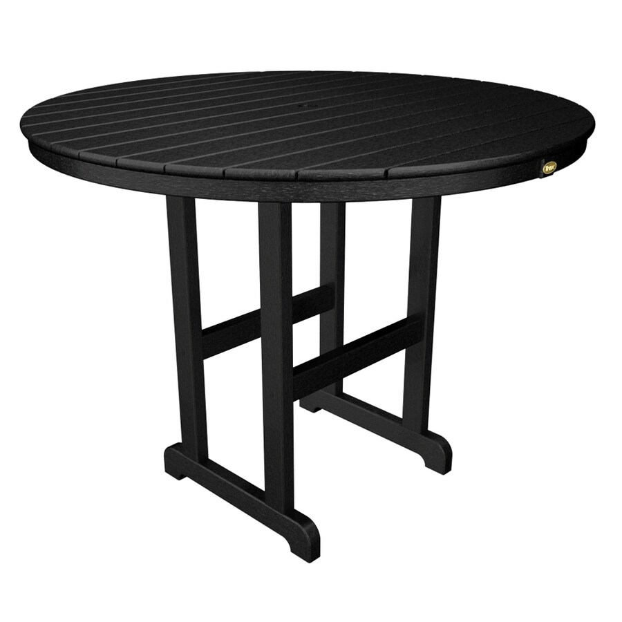 Trex Outdoor Furniture Monterey Bay 48-in W x 48-in L Round Plastic Bar Table