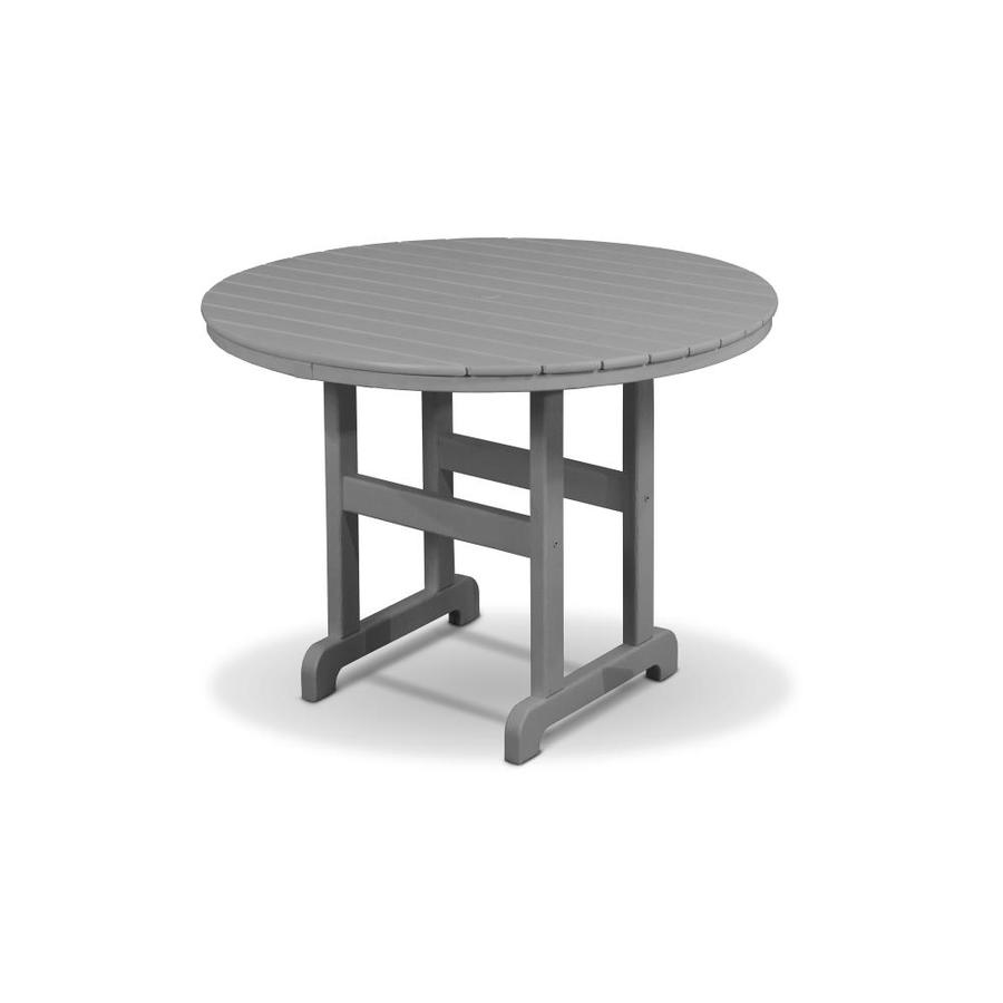 Trex Outdoor Furniture Monterey Bay 35.12-in W x 35.12-in L Round Plastic Dining Table
