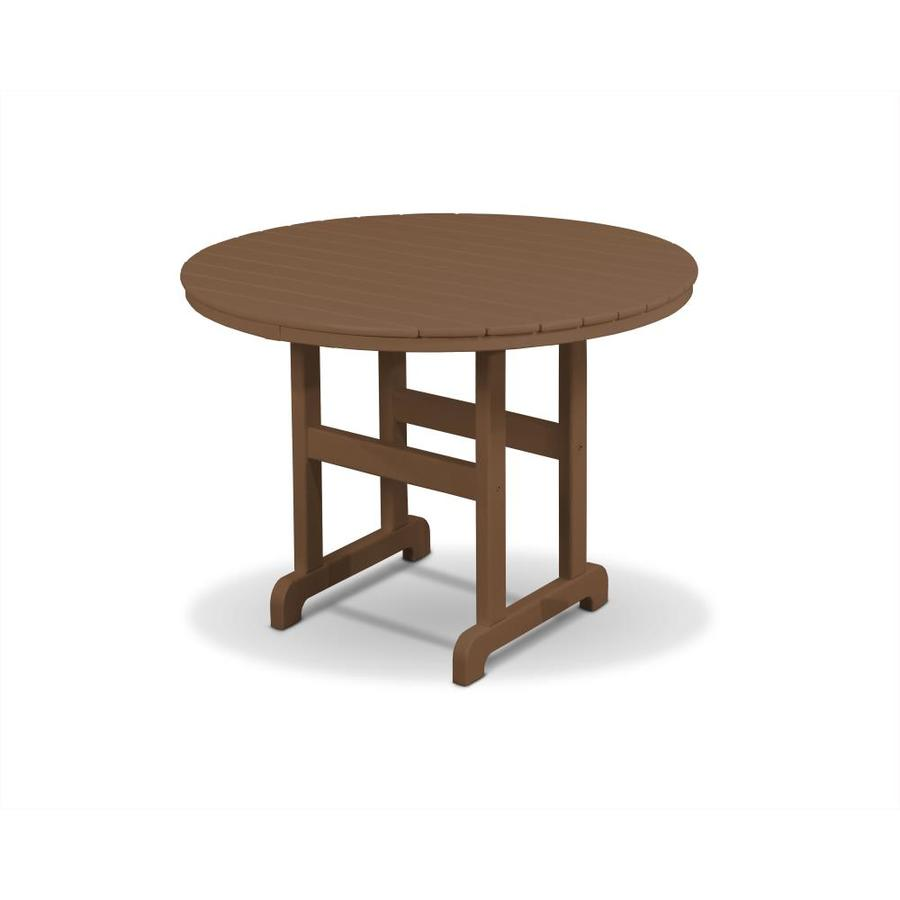 Trex Outdoor Furniture Monterey Bay 35.13-in W x 35.13-in L Round Plastic Dining Table