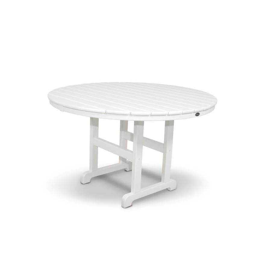 Shop trex outdoor furniture monterey bay 48 in w x 48 in l for White patio table