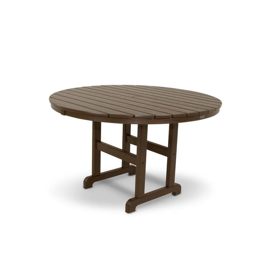 Trex Outdoor Furniture Monterey Bay 48-in W x 48-in L Round Plastic Dining Table