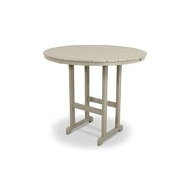 Trex Outdoor Furniture Monterey Bay Round Bar Height Table 48 In W X