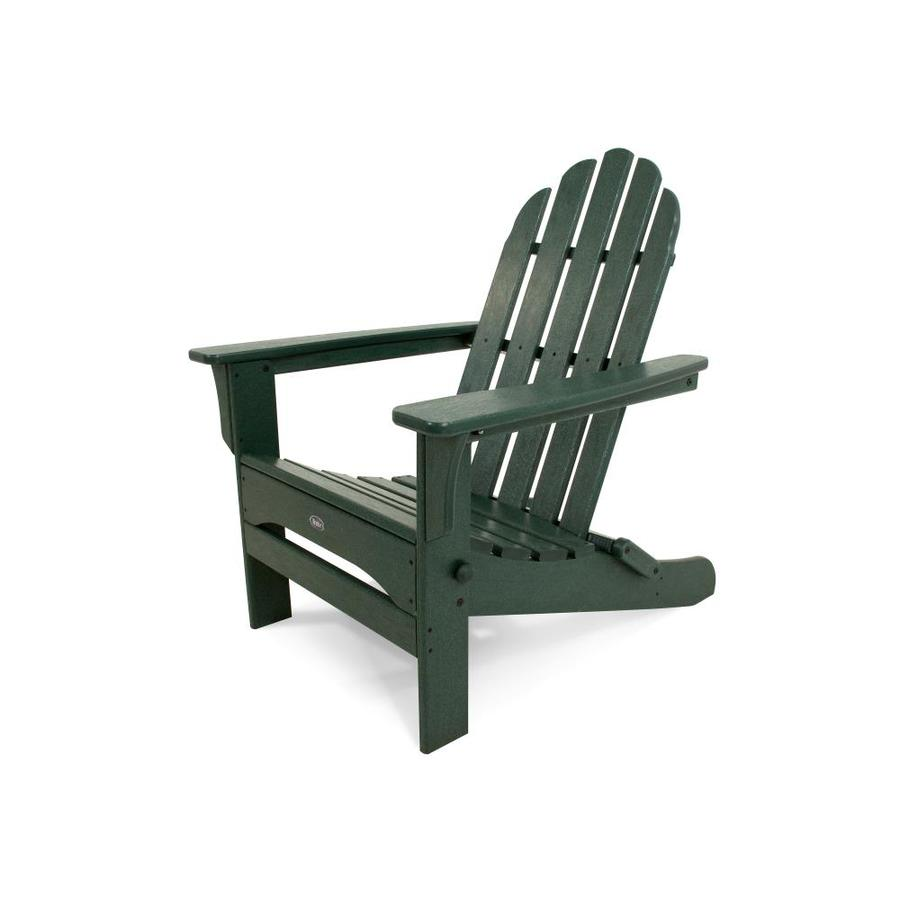 Trex Outdoor Furniture Cape Cod Rainforest Canopy Plastic Folding Patio Adirondack Chair