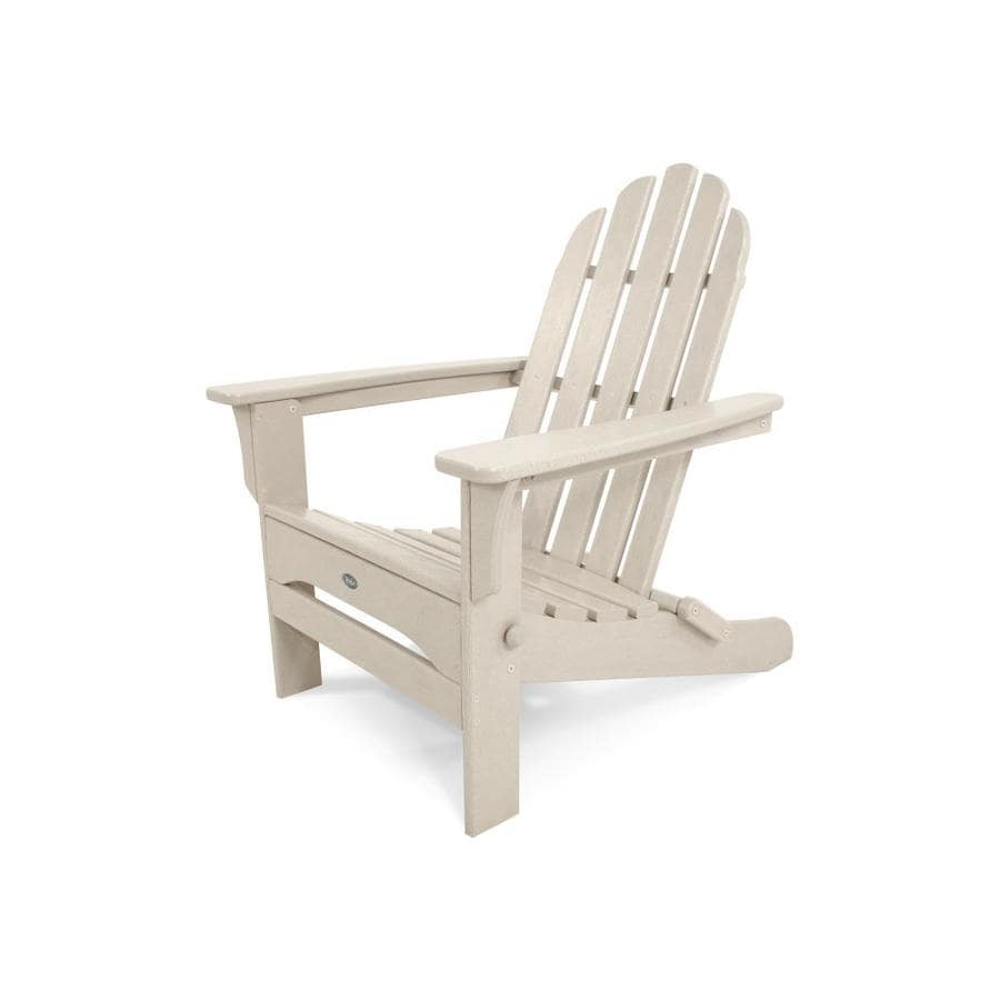 Trex Outdoor Furniture Cape Cod Sand Castle Plastic Folding Patio Adirondack Chair