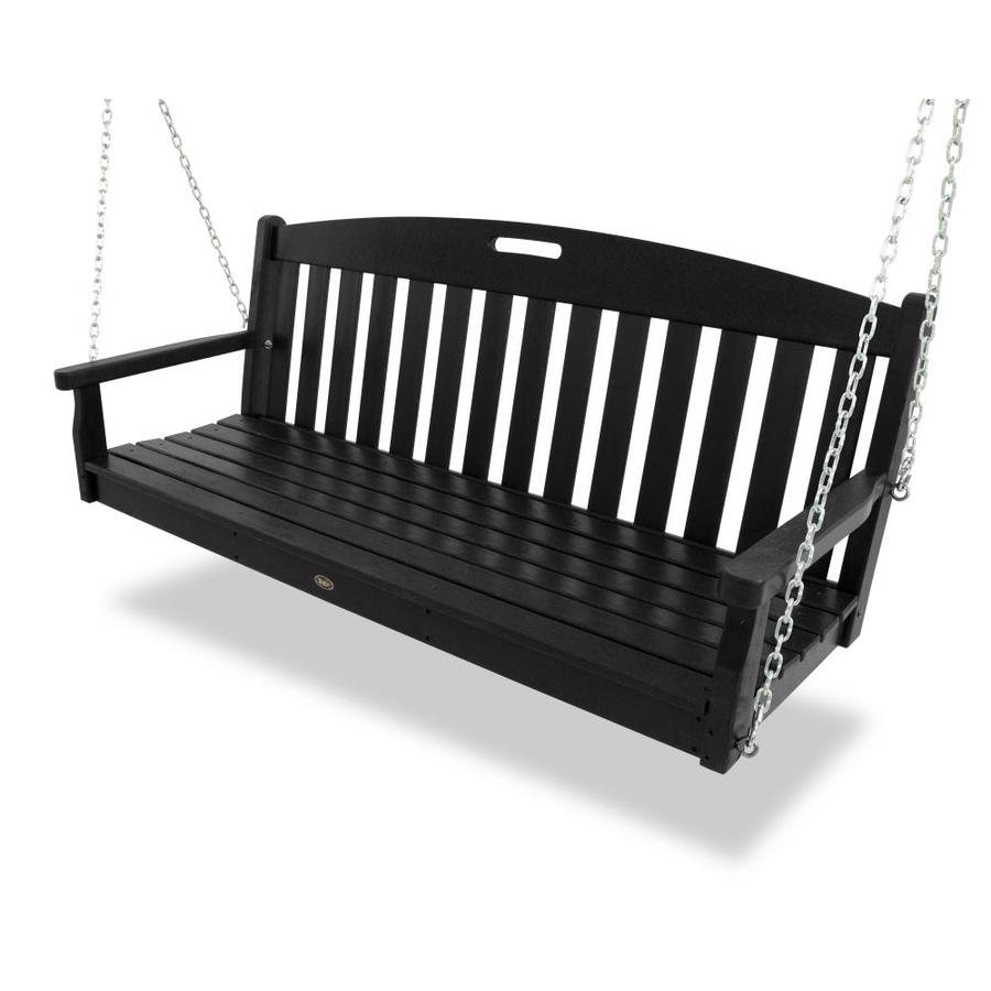 Trex Outdoor Furniture Charcoal Black Porch Swing