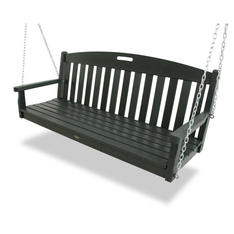 shop trex outdoor furniture rainforest canopy porch swing