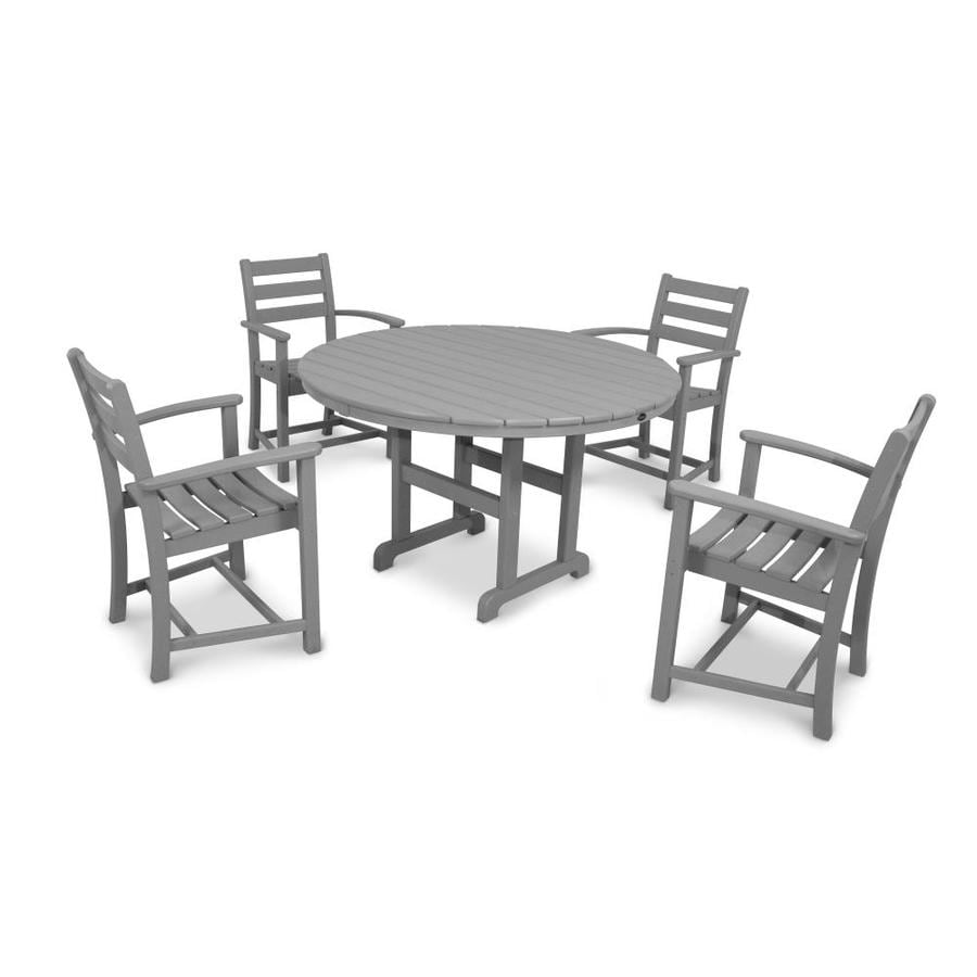 Trex Outdoor Furniture Monterey Bay 5-Piece Stepping Stone Plastic Dining Patio Dining Set